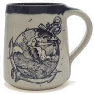 Coffee Mug 14 oz - Anchor and Stormy Seas