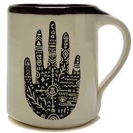 Coffee Mug 14 oz  - Wanderer Handprint