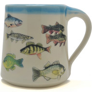 Coffee Mug  14 oz - Fish - May your fisherman friend enjoy his favorite fishing tales when drinking his beverage of choice.