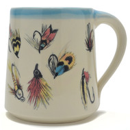 Coffee Mug 14 oz - Flies - Let your fisherman friend enjoy his favorite fishing flies when drinking his beverage of choice.