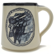 Coffee Mug - 14 oz - Old Man on the Mountain - Artwork inspired by the beloved Old Man Of The Mountain aka Great Stoneface.