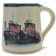 Coffee Mug 14 oz - Tug Boats -  Artwork inspired by our beloved tugs in Portsmouth, NH.