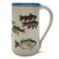 Stein 20 oz - Fish - May your fisherman friend enjoy his favorite fishing tales when drinking his beverage of choice.