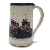 Stein 20  oz - Tug Boats - Artwork inspired by our beloved tugs in Portsmouth, NH.