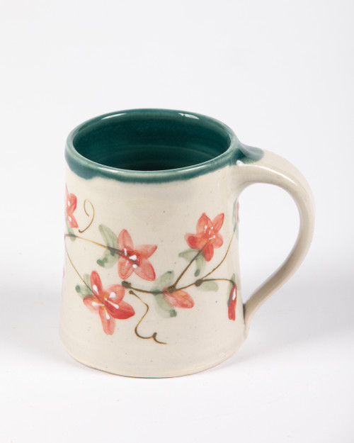 Coffee Mug - Bella's Flowers - Green liner