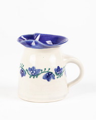 Creamer - 12 oz - Blue Rose with blue lienr - A blue rose can mean unreachable, unattainable or unrequited love