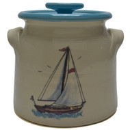 Bean Pot, 2 QT - Sailboat