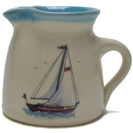 "Creamer - Sailboat - Sailboats symbolize journey and adventure. They also are associated with being carried along by the ""breath of life"