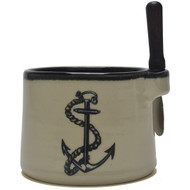 Dip Bowl with Spreader Knife - Anchor