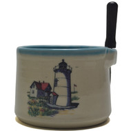 Dip Bowl with Spreader Knife - Lighthouse