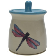 Sugar Jar - Dragonfly - Dragonflies represent good luck or prosperity. So make a wish when you see a dragonfly and it'll come true. ...