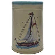 Utensil Holder - Sailboat