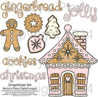 Gingerbread digital stamps