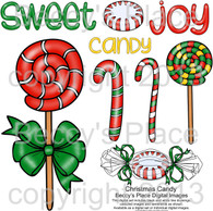 Christmas Candy digital stamps