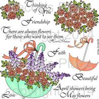Bullion Roses digital stamps