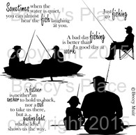 Gone Fishin' digital stamps