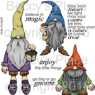 Gnomes in My Garden digital stamps