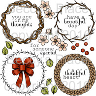 Build A Wreath digital stamps