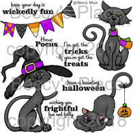 Scaredy Cats digital stamps