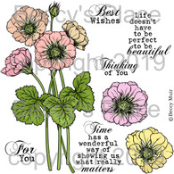 Geums digital stamps