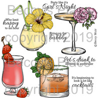 Girls' Night digital stamps