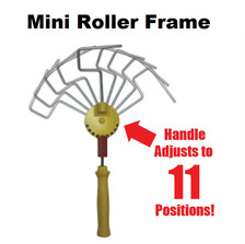 "11 position adjustable handle  *Easy to use thumb tab. *Screws onto regular extension pole Adjustable handle used on an extension pole with our paintshield rollers eliminates ladder and brushwork *Easy to adjust *Easy to learn *Paint 50% faster than traditional painting processes. WHEN ORDERING EXTRA ROLLER COVERS - BE SURE TO SPECIFY 3"" mini Roller Covers"