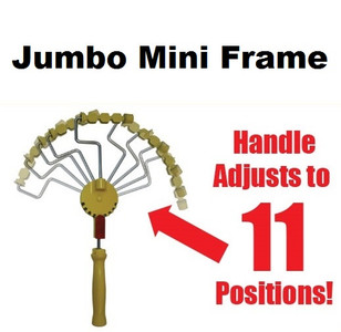 "#6 - Jumbo ""Adjustable""  mini Roller Frame for 3/4"" rollers"