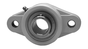 """1-7/16"""" Stainless Steel Thermoplastic Two Bolt Flange Bearing SSUCFL207-23-TP Image"""