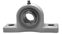 """1-1/4"""" Stainless Steel Thermoplastic Pillow Block Bearing SSUCP207-20-TP"""