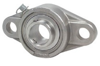 "1-1/4"" Stainless Steel Two Bolt Flange Bearing SSUCFL207-20"
