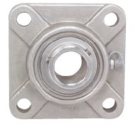"""SUCSF208-24 1-1//2/"""" Stainless Steel 4 Bolt Flange Bearing"""