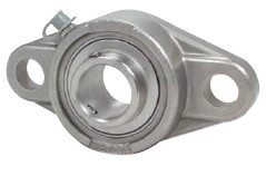 """3/4"""" Stainless Steel Two Bolt Flange Bearing SSUCFL204-12 Image"""