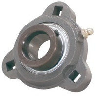 "1-1/8"" Three Bolt Flange Bearing W/ Lock Collar SATRD206-18G"