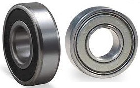 "R6-2RS R6-ZZ Radial Ball Bearing 3/8"" Bore Image"