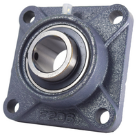 "1-3/16"" Four Bolt Flange Bearing UCF206-19"
