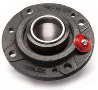 """4-7/16"""" M2000 Heavy Duty Four Bolt Piloted Flange Bearing"""