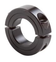 "1/2"" Black Oxide Double Split Shaft Collar"