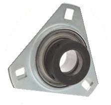 "1-3/8"" Pressed Steel Three Bolt Flange Bearing W/ Lock Collar SASTR207-22 Image"
