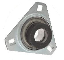 "1-1/8"" Pressed Steel Three Bolt Flange Bearing W/ Lock Collar SASTR206-18 Image"