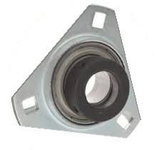 "1/2"" Pressed Steel Three Bolt Flange Bearing W/ Lock Collar SASTR201-08 Image"