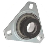 "1/2"" Pressed Steel Three Bolt Flange Bearing W/ Lock Collar SASTR201-08"
