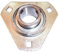 "1-3/8"" Pressed Steel Three Bolt Flange Bearing SBSTR207-22"