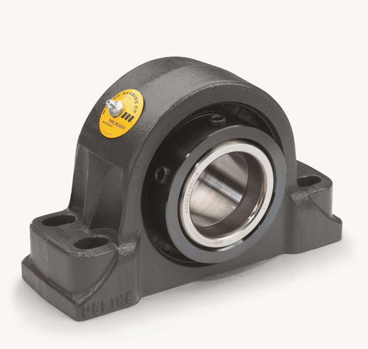"2-7/16"" M2000 Heavy Duty Four Bolt Pillow Block Bearing Image"