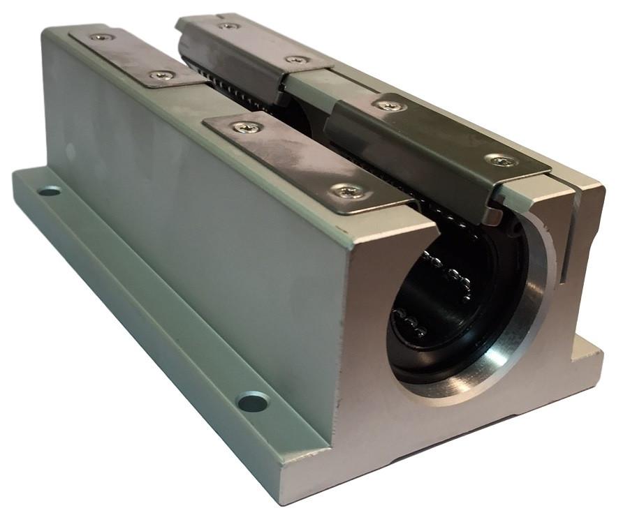 """3/4"""" Open Style Double Wide Linear Ball Bearing Unit SSWD12LUU TWD12WUU Image"""