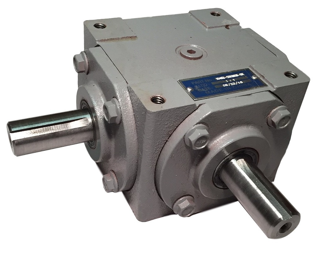 40 HP Right Angle Bevel Gearbox with 2 Keyed Shafts CW/CW 1:1 Image