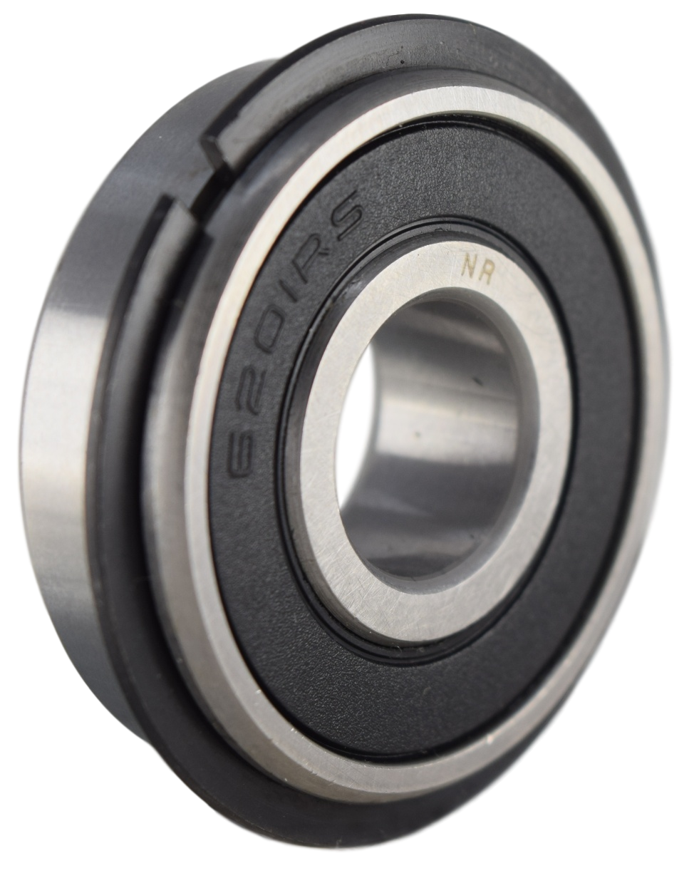 6201-2RSNR Radial Ball Bearing with Snap Ring 12X32X10 Image