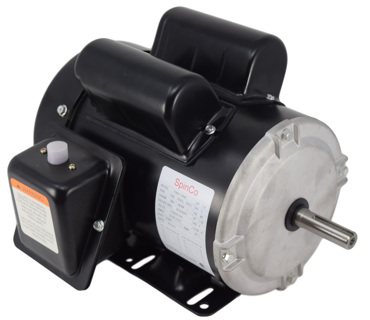 1.5 HP Farm Duty 1750 RPM 115/230 Volt AC Electric Motor Image