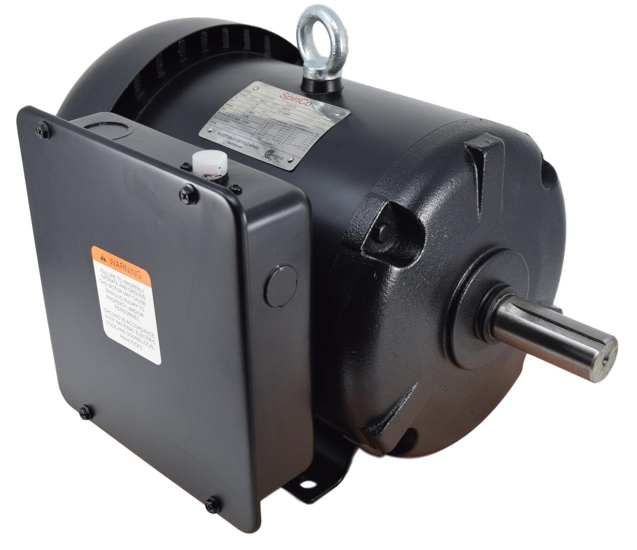 5 HP Farm Duty 1740 RPM 230/460 Volt AC Electric Motor Image
