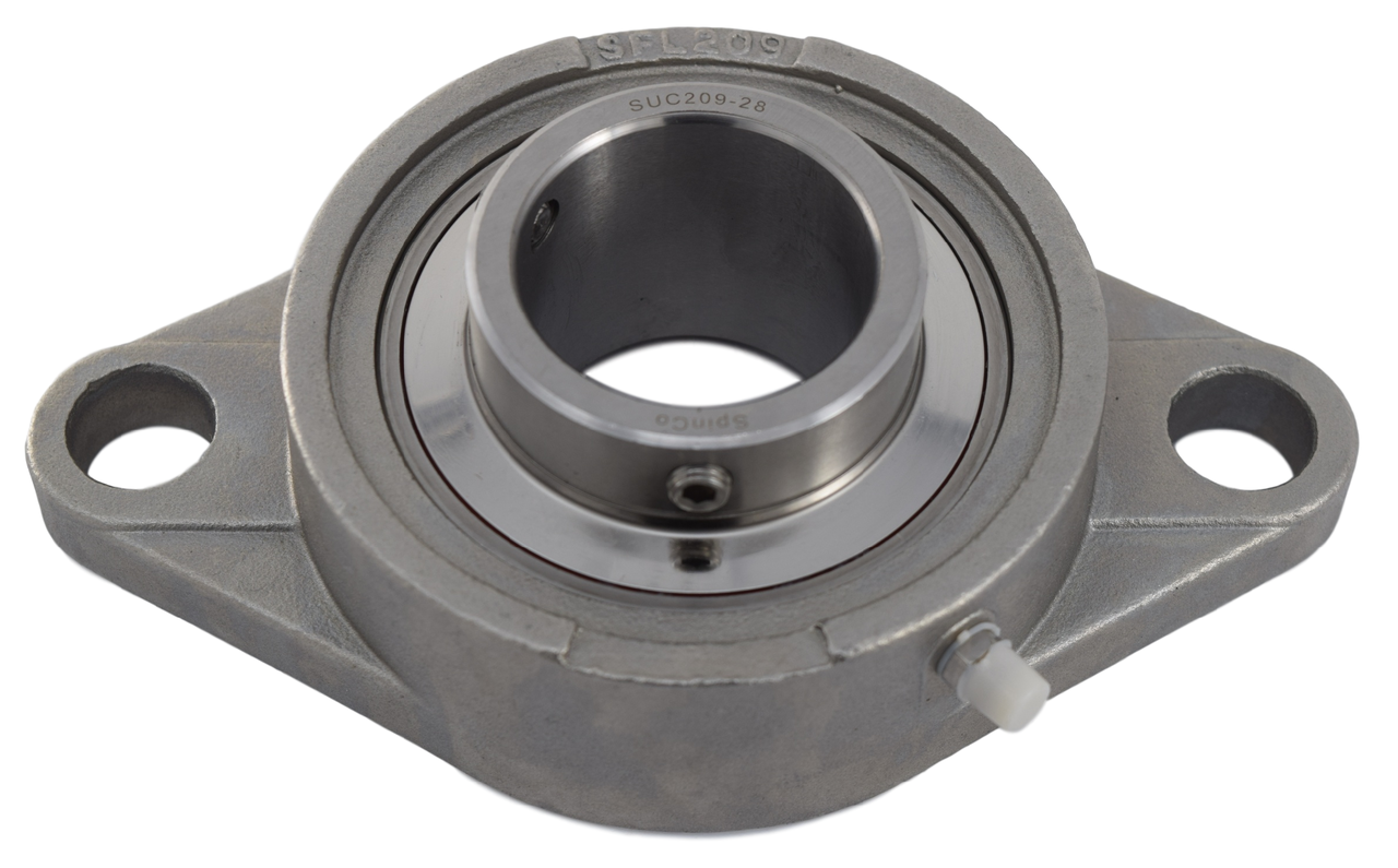 """1-3/4"""" Stainless Steel Two Bolt Flange Bearing SSUCFL209-28 Image"""