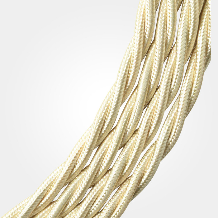 Cream Braided Cable Flex